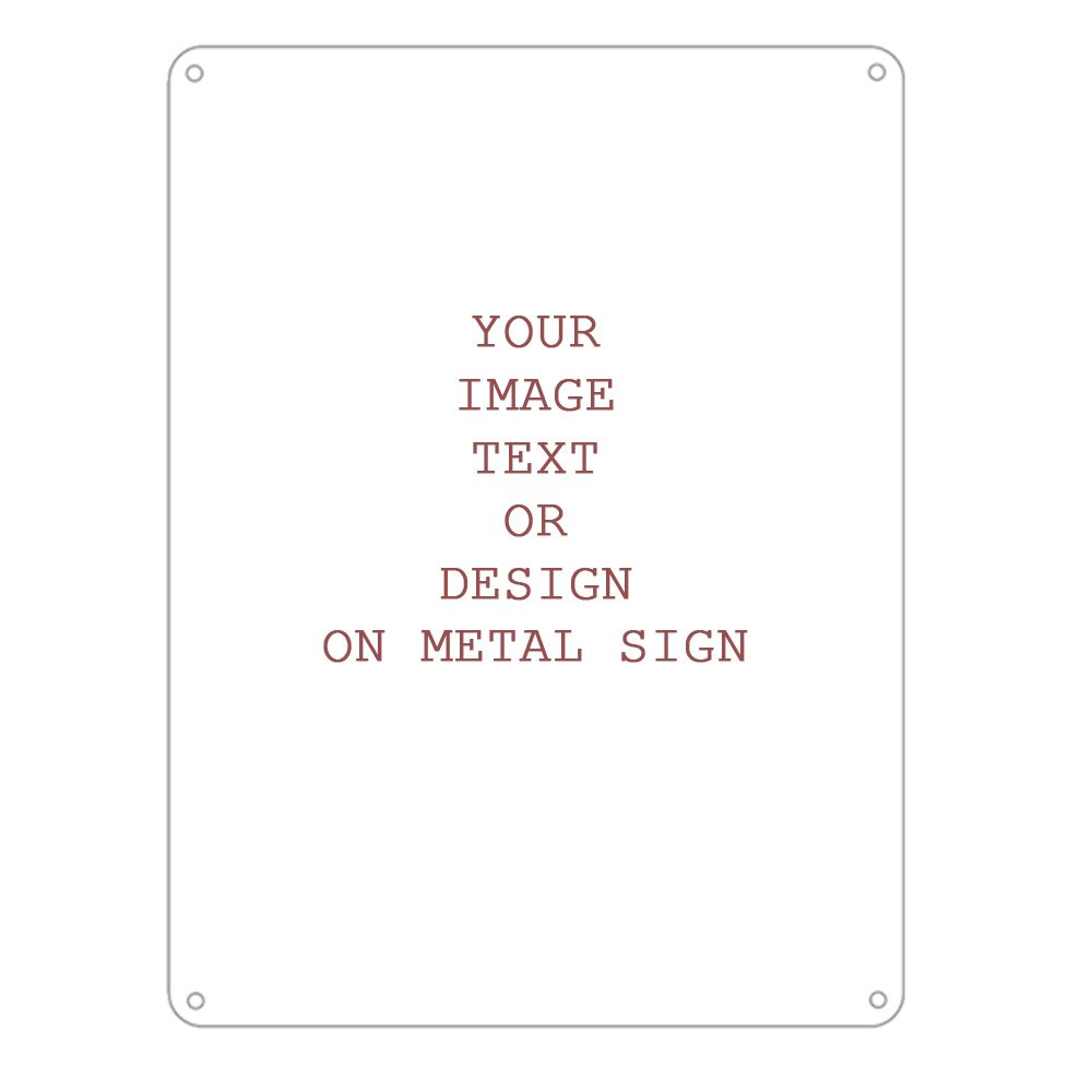 personalised any design any image any text metal personalised art